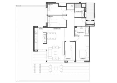 Planta baja de 4 habitaciones