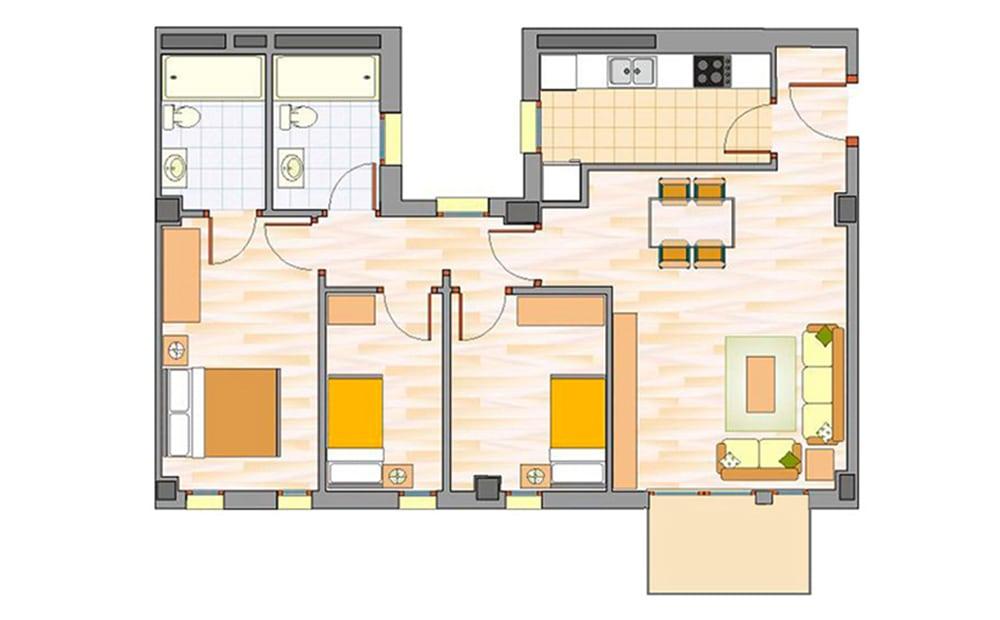 Pisos de obra nueva en badalona lloreda sistrells for Piso 3 habitaciones alcobendas