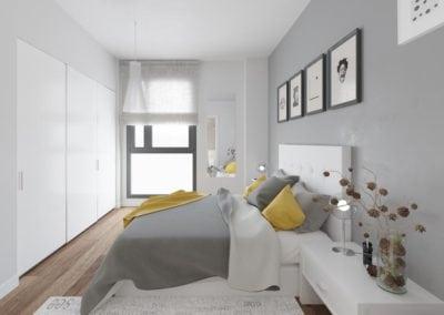 Granollers pisos obra nueva dormitorio principal