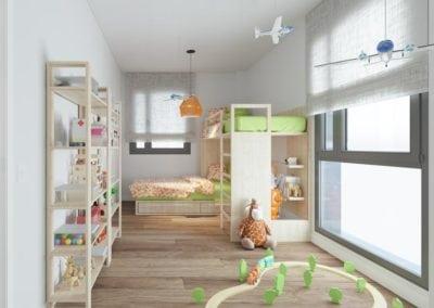 Granollers pisos obra nueva dormitorio