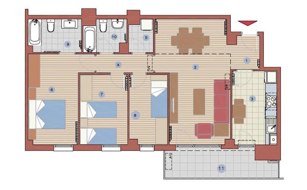Pisos de obra nueva en lleida parc de l aigua farr for Piso 3 habitaciones oviedo