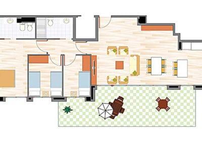 Ático de 3 habitaciones