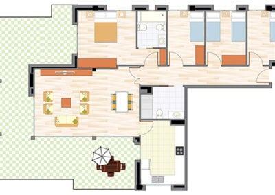 Ático de 4 habitaciones