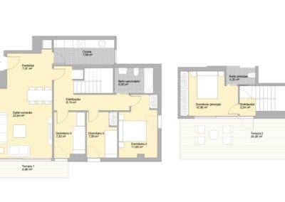 Piso de 4 habitaciones 5 2 E1