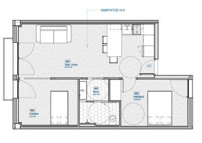 Piso obra nueva Santa Coloma 2 habitaciones exterior