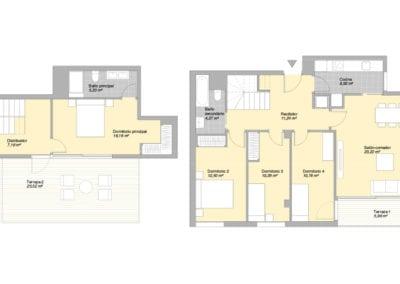 Piso de 4 habitaciones 2 2 E2