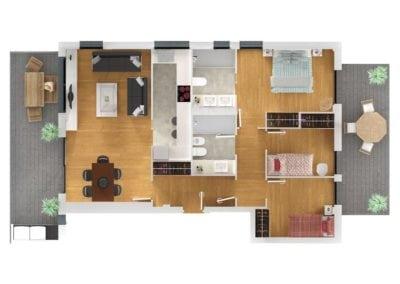 Residencial Tiana 3 dormitorios